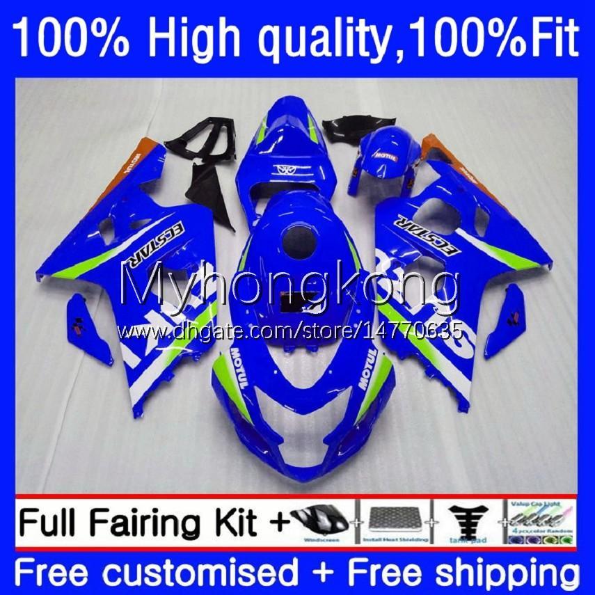 suzuki gsx-r750 k4 750cc gsxr600 gsxr-750 04-05 20no.0 gsx-r600 gsxr 600cc-r600 gsxr 600cc gsxr-600 GSXR750 2004 2005 OEM Bodys 공장 블루
