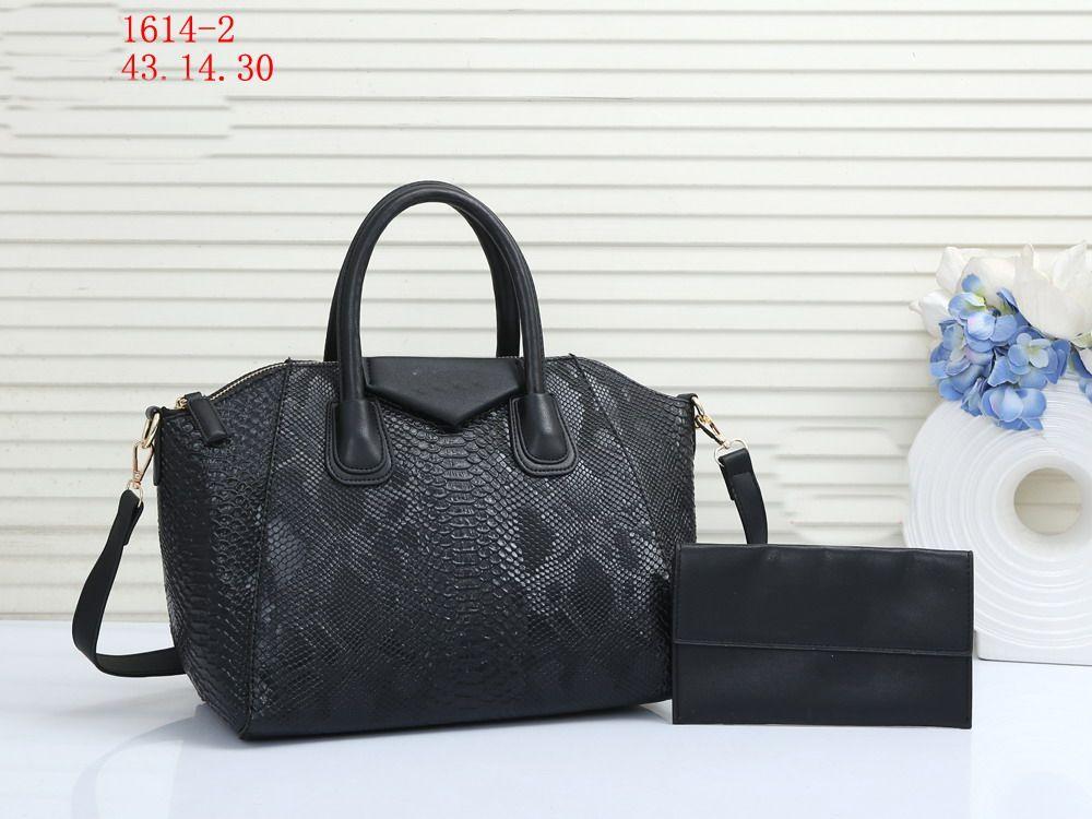Moda Mujeres Luxurys Designers Bolsos 2 unids / Set Crossbody Hombro Hombro Bolsos Messenger Bag Holder Holder Monedero