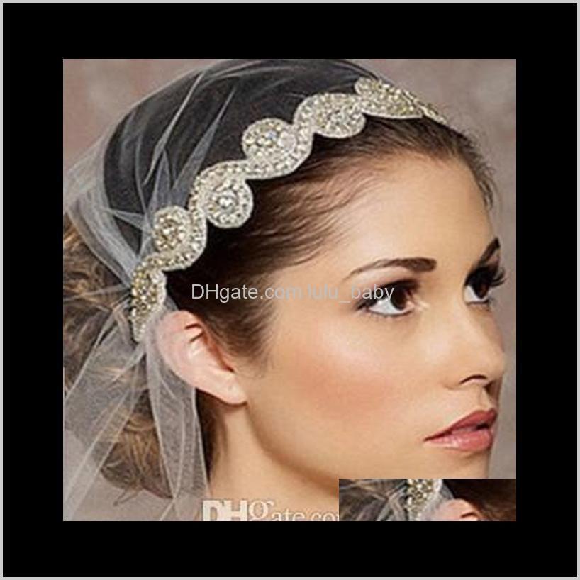 Jewelry Drop Delivery 2021 Vintage Bridal Crown Tiara Wedding Jewelery Bohemia Accessories Elegant Headpieces Frontlet Hair Band Headbands Dj