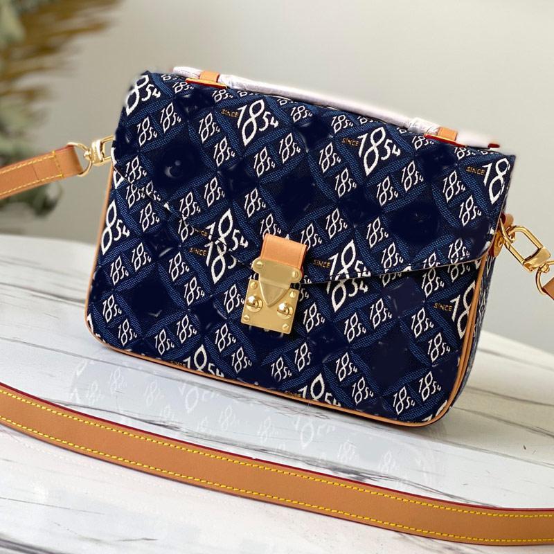 Denim Canvas Messenger Bag Cross Body Bags Women Handbags Purse Fashion Letter Classic Flower patchwork Top Handle Tote Detchable Shoulder Strap Multi Pochette