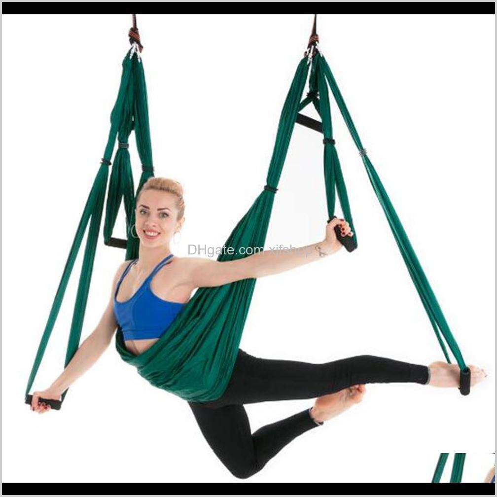 Resistance Bands Fitness Supplies Sports Outdoors Drop Delivery 2021 Wholesale Antigravity Aerial Hammock Set Multifunction Belt Flying Yoga