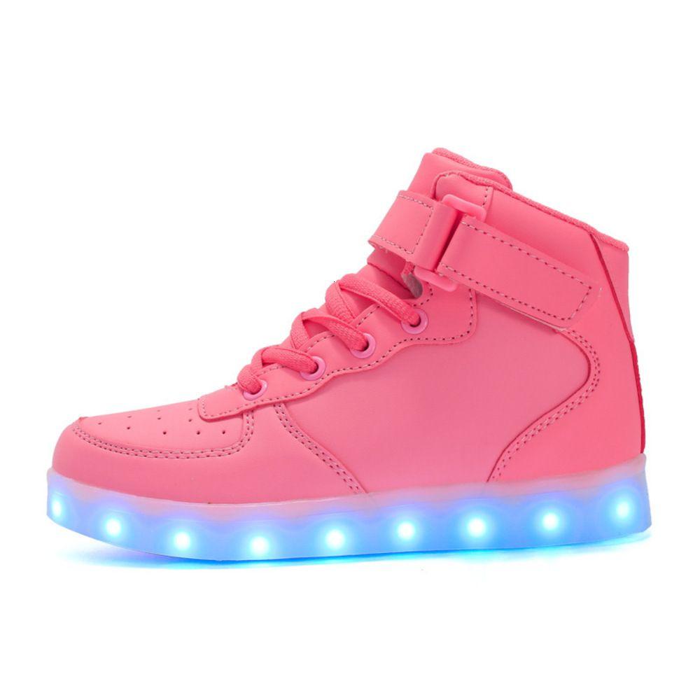 Rahat ayakkabılar Gyln rahat spor erkek ve eğlence yeni led lamba usb şarj yüksek üst kadın ışık ayakkabı 218vm {kategori}