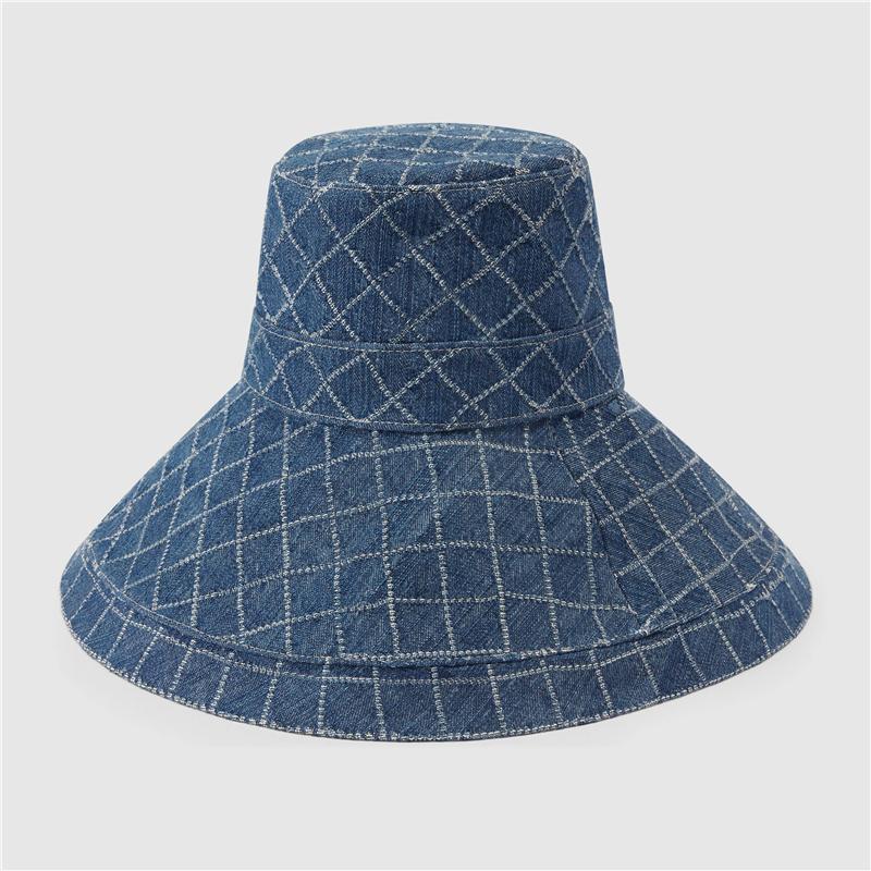 الدينيم دلو القبعات رجل قبعات القبعات إمرأة واسعة بريم قبعة الأزياء عارضة كاب جورو ستايل الشوارع casquette