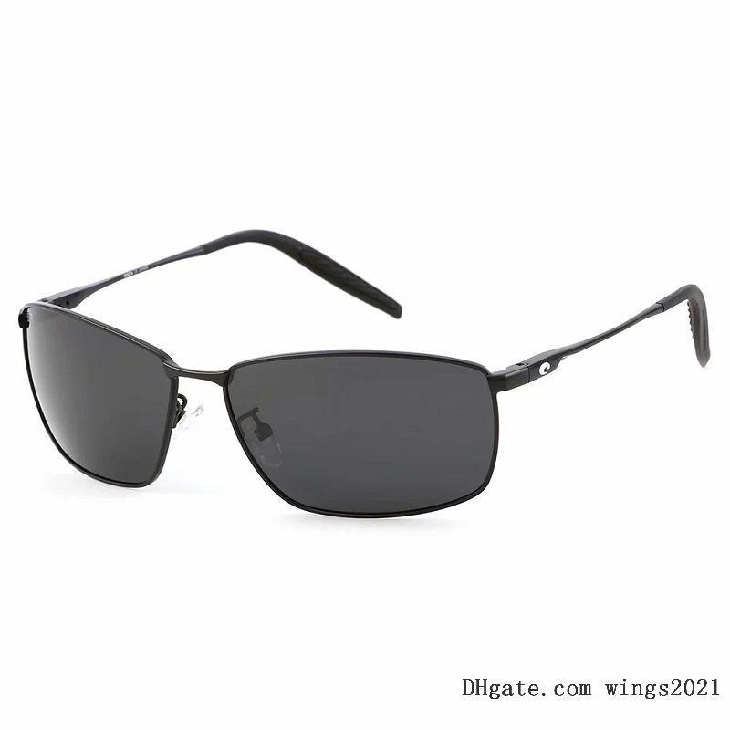 Erkekler için Klasik Kosta Güneş Gözlüğü 2021 Lüks Tasarımcılar Güneş Gözlükleri UV400 Yüksek Kaliteli Polarize PC Lens 580 P Renk Kaplı Alaşım Çerçeve - Taret Model Taret