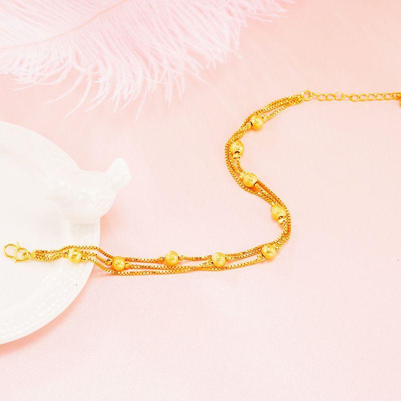 Nouvelle imitation 18k Bracelet Fille Fashion Vietnam Chain Sand Bijoux à la main