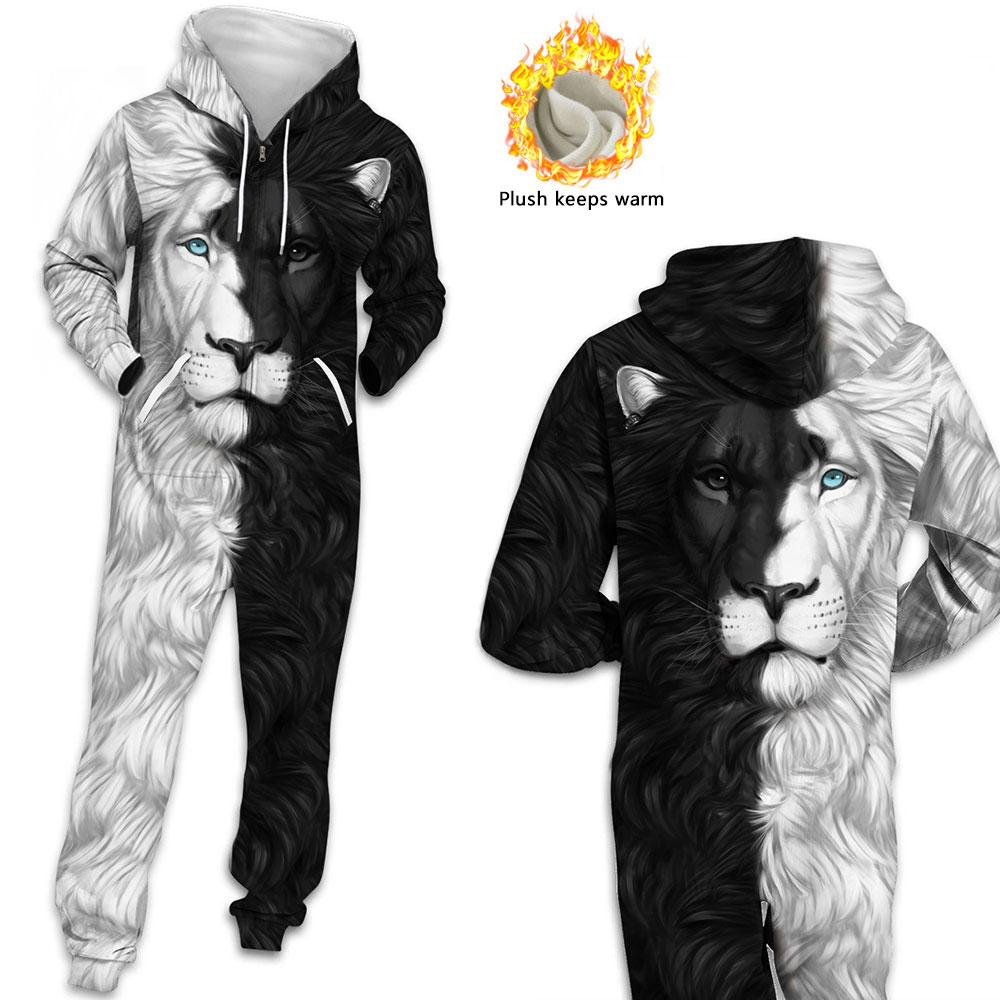 2011fashion Adicionar lã 3D Impresso Anime Hoodie Pijamas Romper Zip Jumpsuit Hoody Casal Homens Mulheres Isolamento Confortável Adulto Jaqueta
