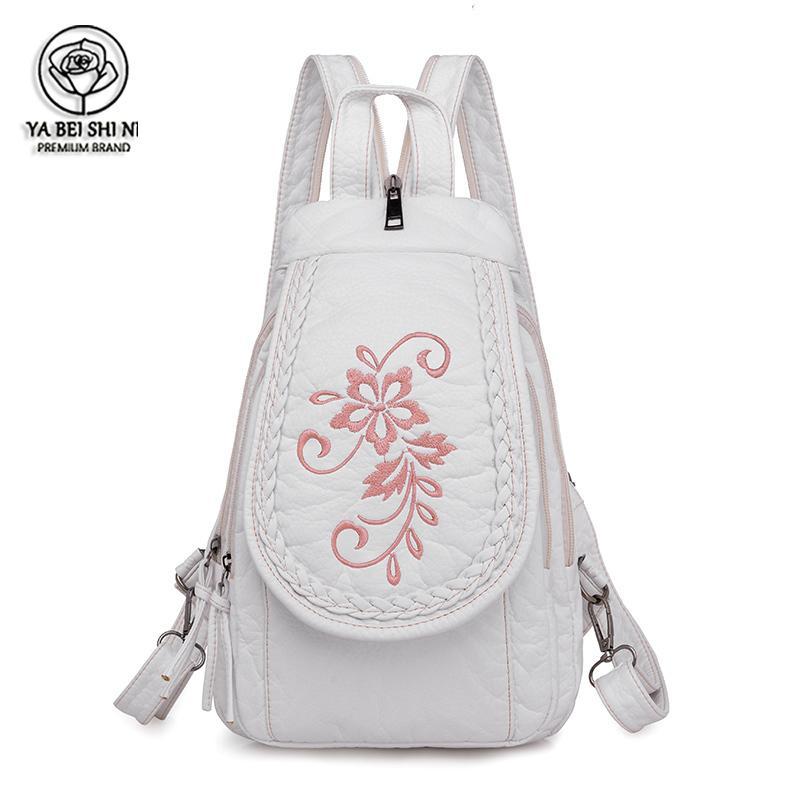 Рюкзак женская кожа высокое качество путешествия маленькая школа для девочек-подростков