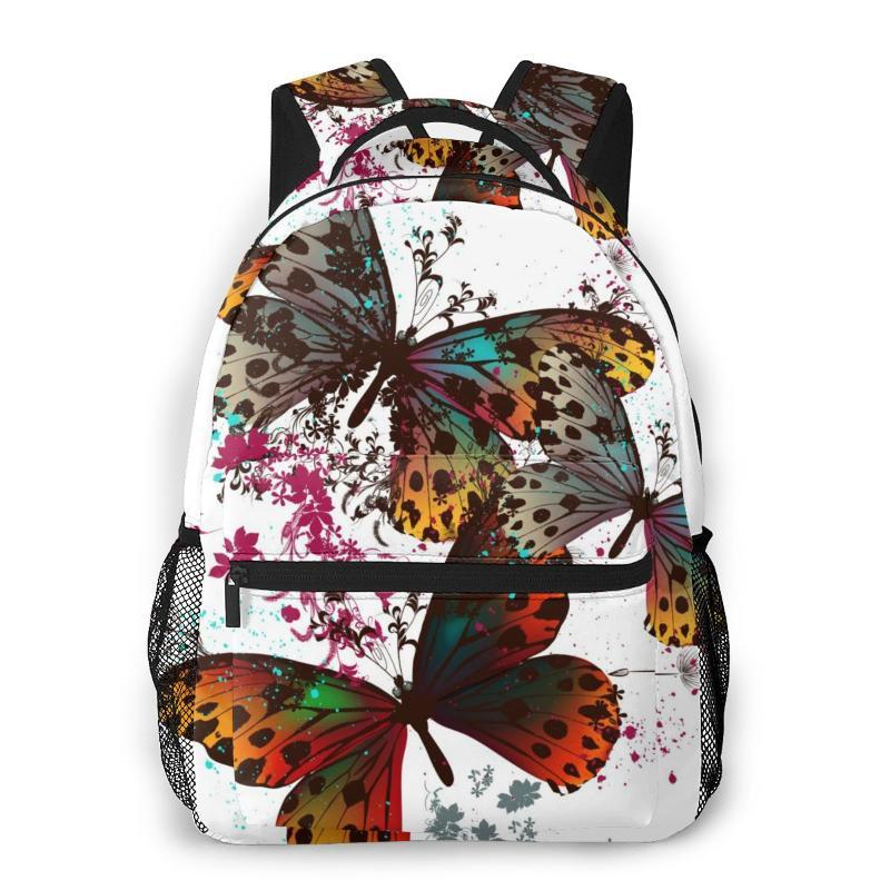 School Bags OLN For Teenagers Boys Bag Boy Butterfly With Colorful Wings Students Book Satchels