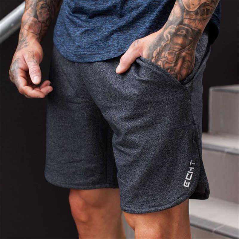 Yeni Erkekler Spor Sahile Şort Pantolon Pamuk Vücut Geliştirme Sweatpants Spor Kısa Jogger Rahat Spor Salonları Erkekler Şort X0601