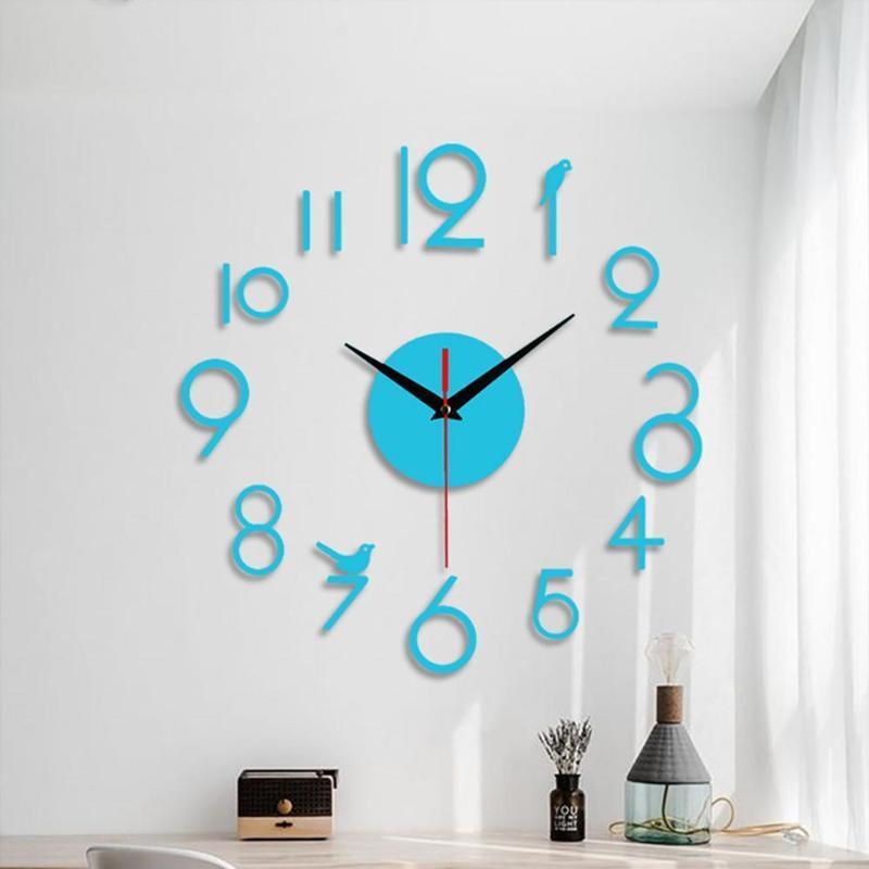 Wall Clocks Modern DIY Large Clock 3D Mirror Surface Sticker Home Decor Art Giant Watch With Roman Numerals Big CD