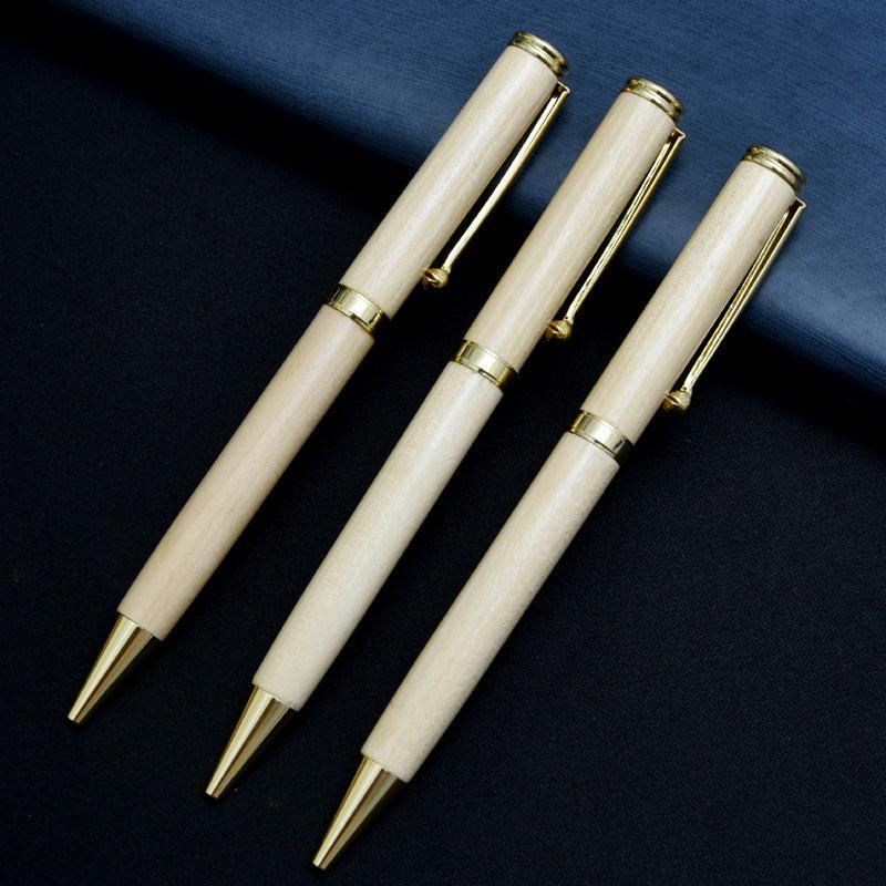 Ballpoint Oil Signature Gift Box Set Carving Wooden Pen