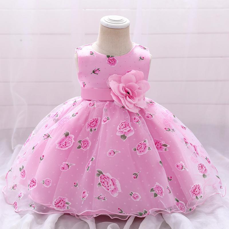 Girl's Dresses Toddler Christening Flower Baby Girls Dress Costume Lace 1st Birthday Princess Party Wedding For Girl Kids Clothes