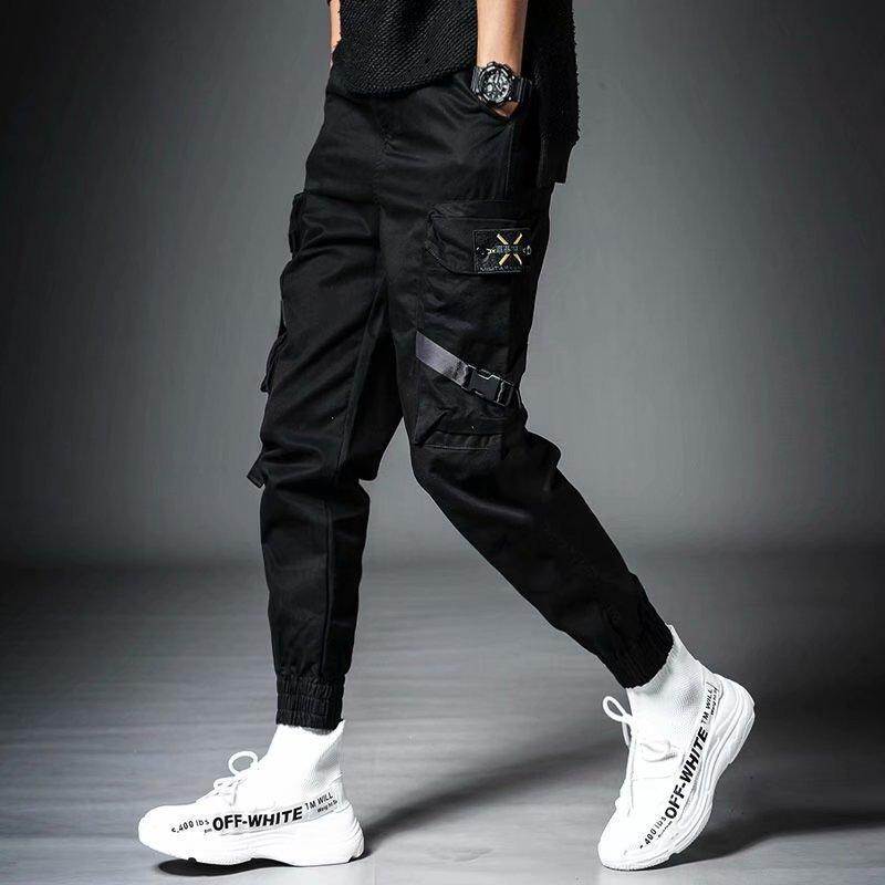 Joggers Hommes Coréens Streetwear Surdimenso Pantalons de cargaison 2021 Vêtements de mode Vêtements Mulit Pocket Militaire Harajuku Sweatpants Hommes