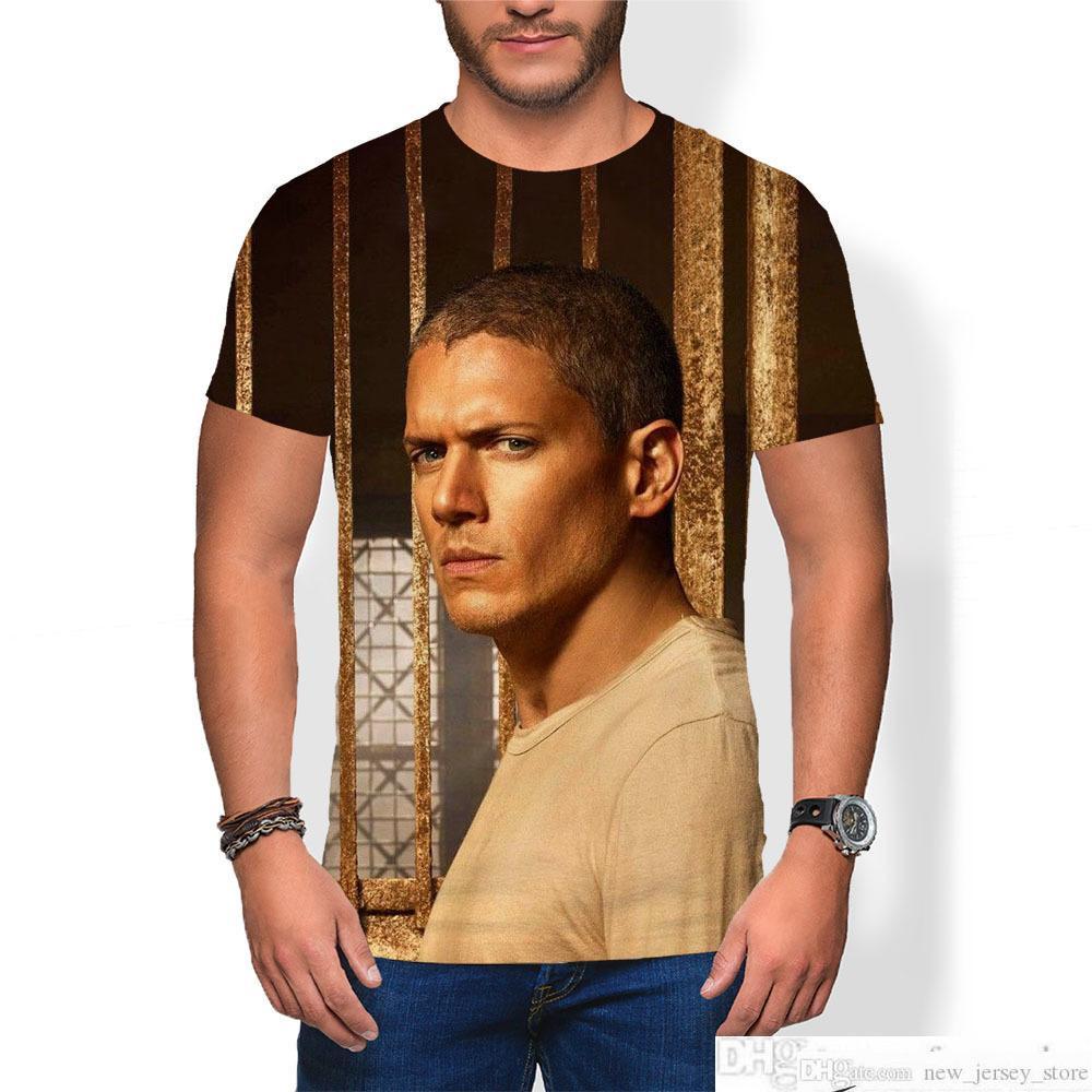 BOYS PRISION Break T Shirt Hombre hombre hombre mujer unisex moda 100% algodón manga corta o-cuello tops camisas de fútbol hombre hombre jersey sportswearsoccer jersey