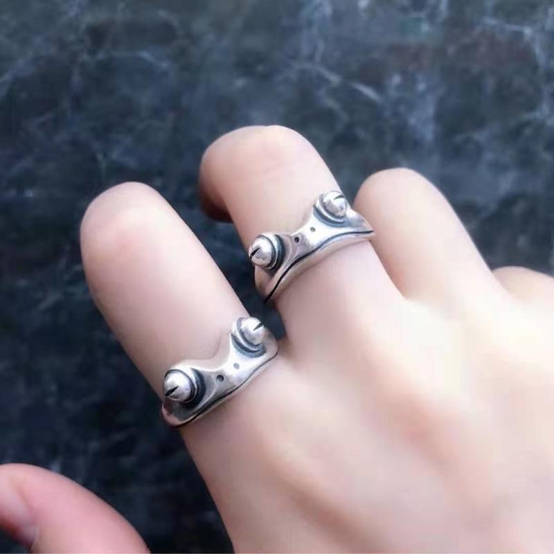 band Newbohe mian Vintage from ring for women artistic design retro opening resilient Unisex female statement rivers silver color gift824 T2
