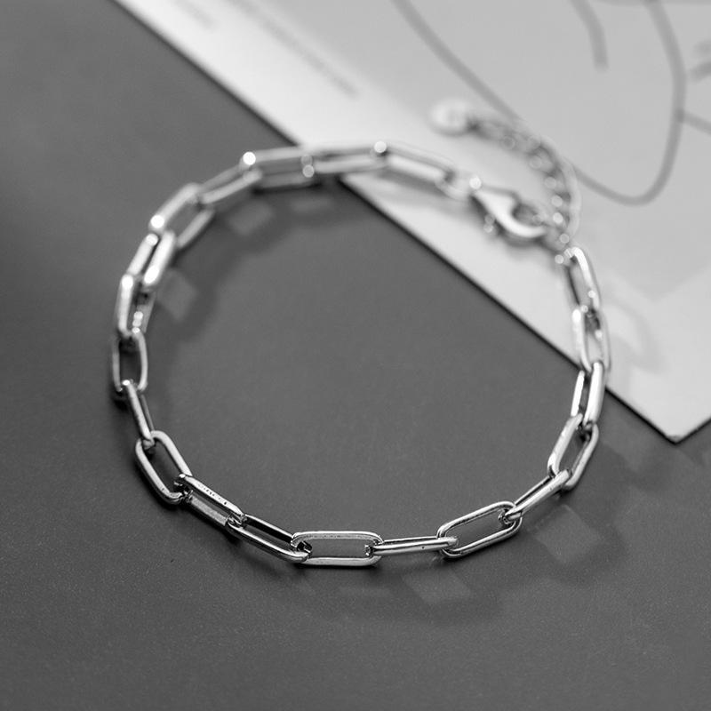 ANDYWEN 925 Sterling Silver Gold Horoscope Chain Bracelet Adjustable Square Rock Punk Bangle Women Rock Punk Plain Fine Jewelry