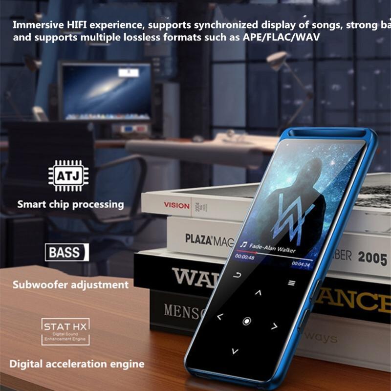 بلوتوث 5.0 مشغل mp3 ضياع 16 جيجابايت مركبتي المحمولة الصوت Walkman مع راديو FM مسجل صوت الموسيقى MP4
