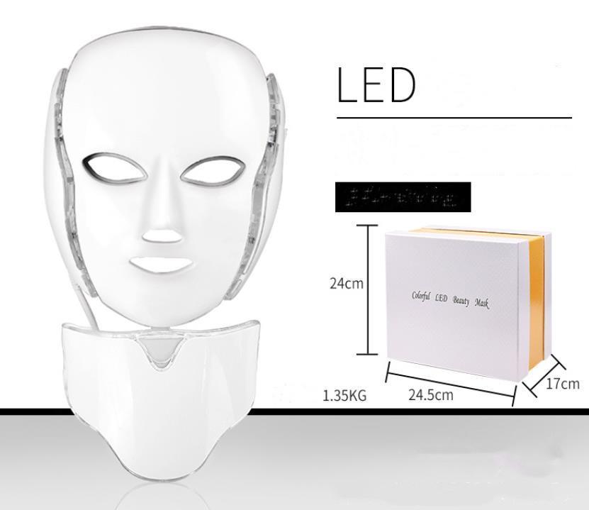 LED Skin Rejuvenation PTD Photon Face Neck Masks Treatment Whitening Firming Facial Beauty Electric Anti-Aging Mask j40