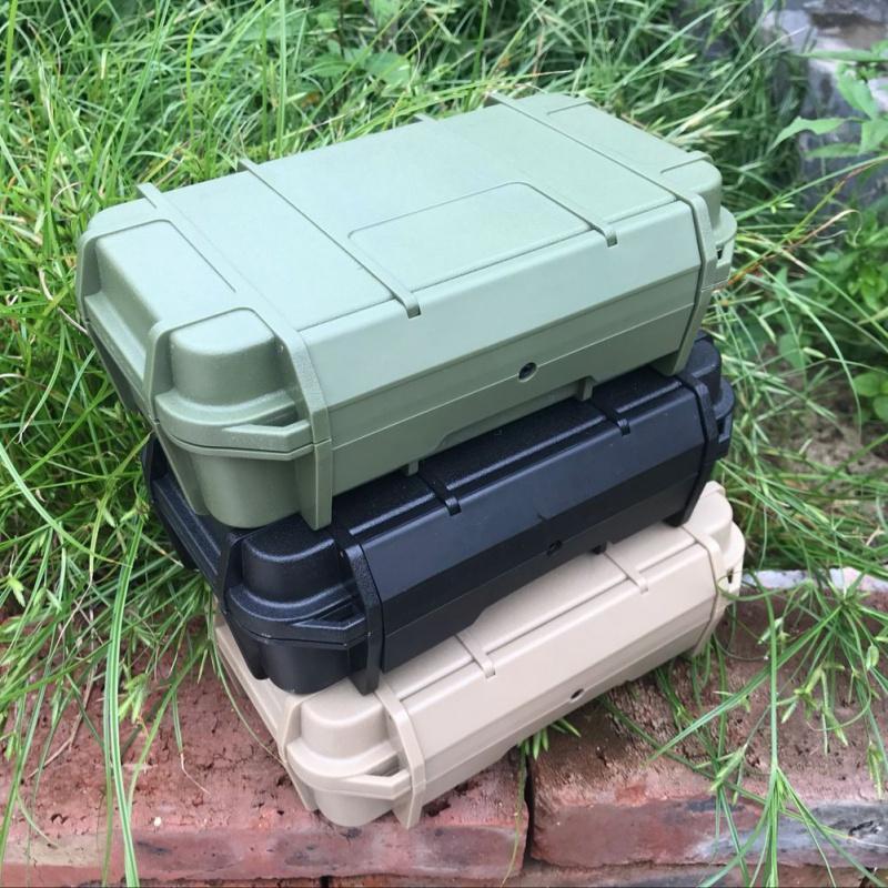 Outdoor Doppelschicht Kunststoff Wasserdichte Luftdichte Survival Case Container Camping Reise Aufbewahrungsbox Angeln Zubehör