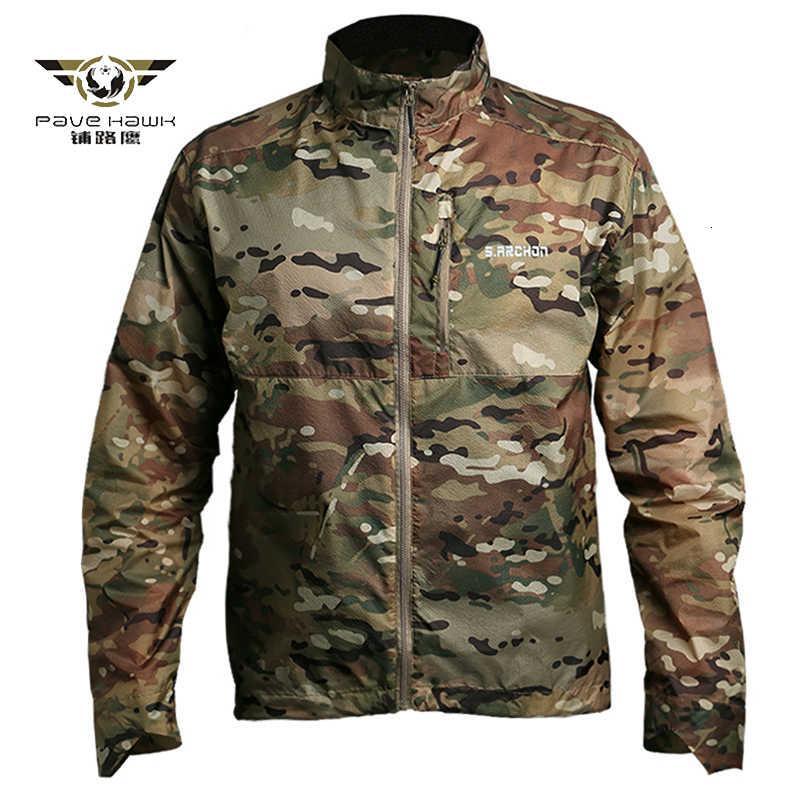 Männer Jacken Tactical Camouflage Haut Jassen Männer Leichte Kapuze Military Jas Male Sommer Atem Dunne Hoody Tragbare Windjacke