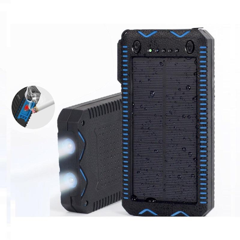 80000 مللي أمبير طاقة الشمسية بنك الطاقة عالية السعة شحن بنك الطاقة مع سجائر أخف وزنا مزدوج USB شاحن الطوارئ
