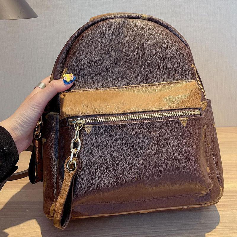 Backpack Genuine Leather Backpacks Women Shoulder Bag Fashion Letter Back Pack Handbags Purse Presbyopic Cross Body Bags