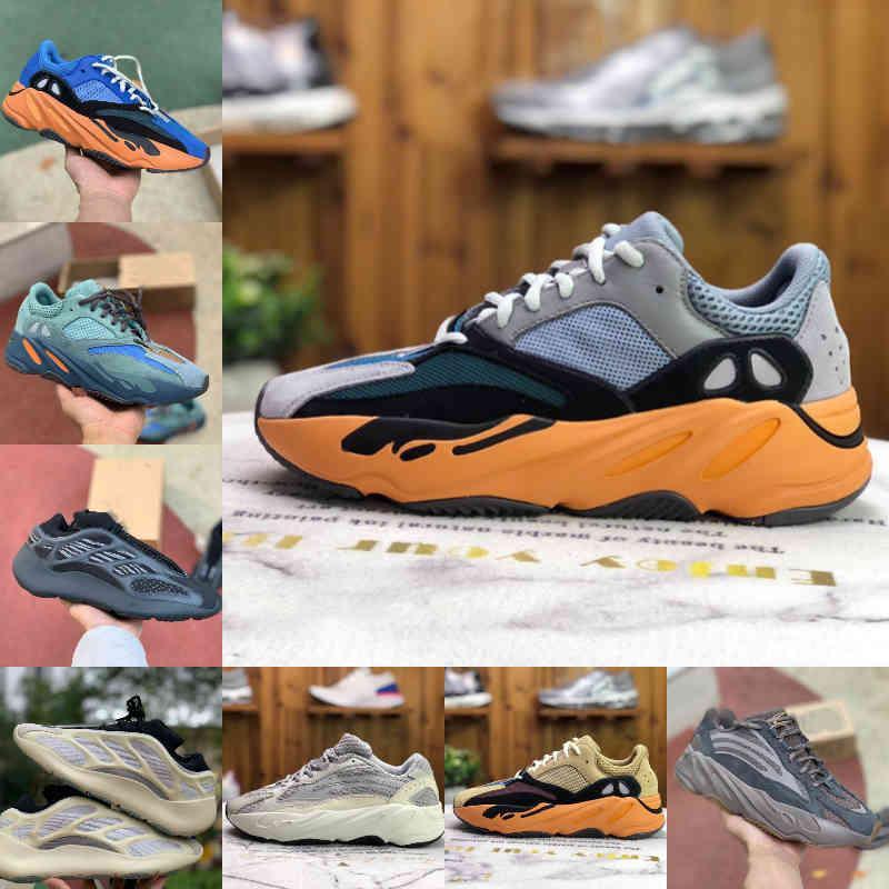Yüksek Kaliteli Enflege Amber 700 V2 V3 Erkekler Kadınlar Spor Ayakkabı Koşucu Deniz Parlak Mavi 380 Geode Alvah Azael Statik Mıknatıs Dalga Katı Gri Tephra Ataderi Eğitmen Sneakers