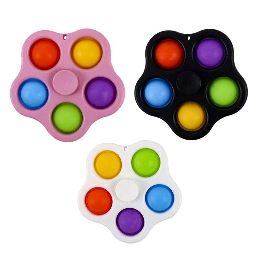 Placa de exercício dedo bonito empurrar covinho sensory brinquedo antistress silicone descompressão brinquedo para crianças presentes adultos