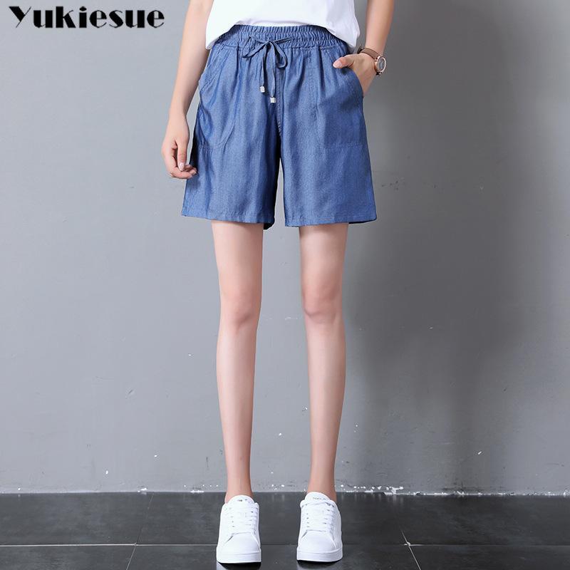 Hohe taillierte modische Frau für Frauen kurze Hosen Frau Shorts Frauen Jeans Plus Größe 210412