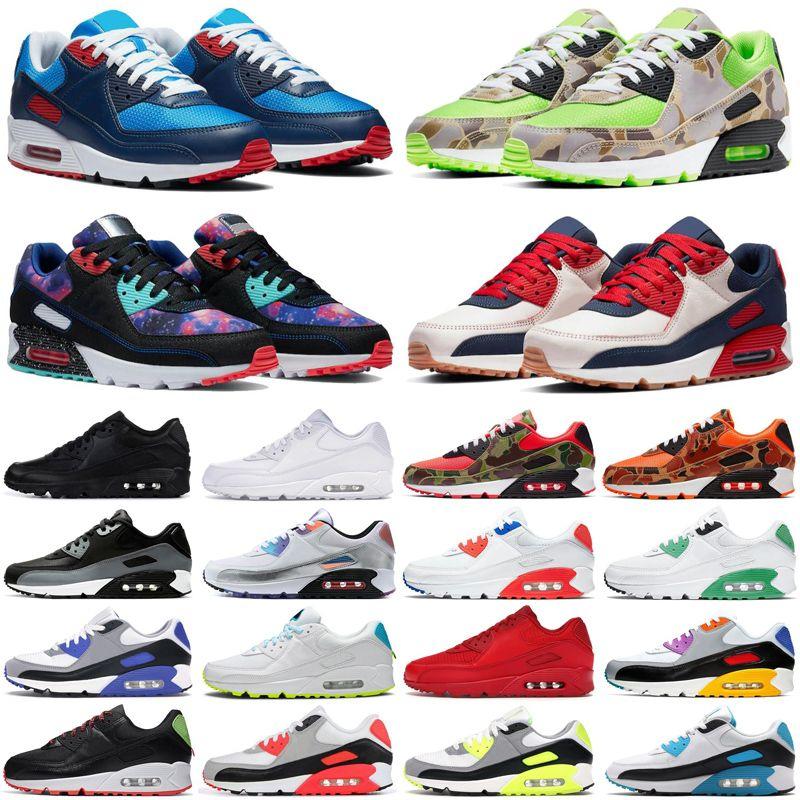 ماكس 90 أحذية رجالي 90s صور أزرق أخضر كامو عالمي UNC كن صحيحًا أحذية رياضية للرجال والنساء مقاس 36-45