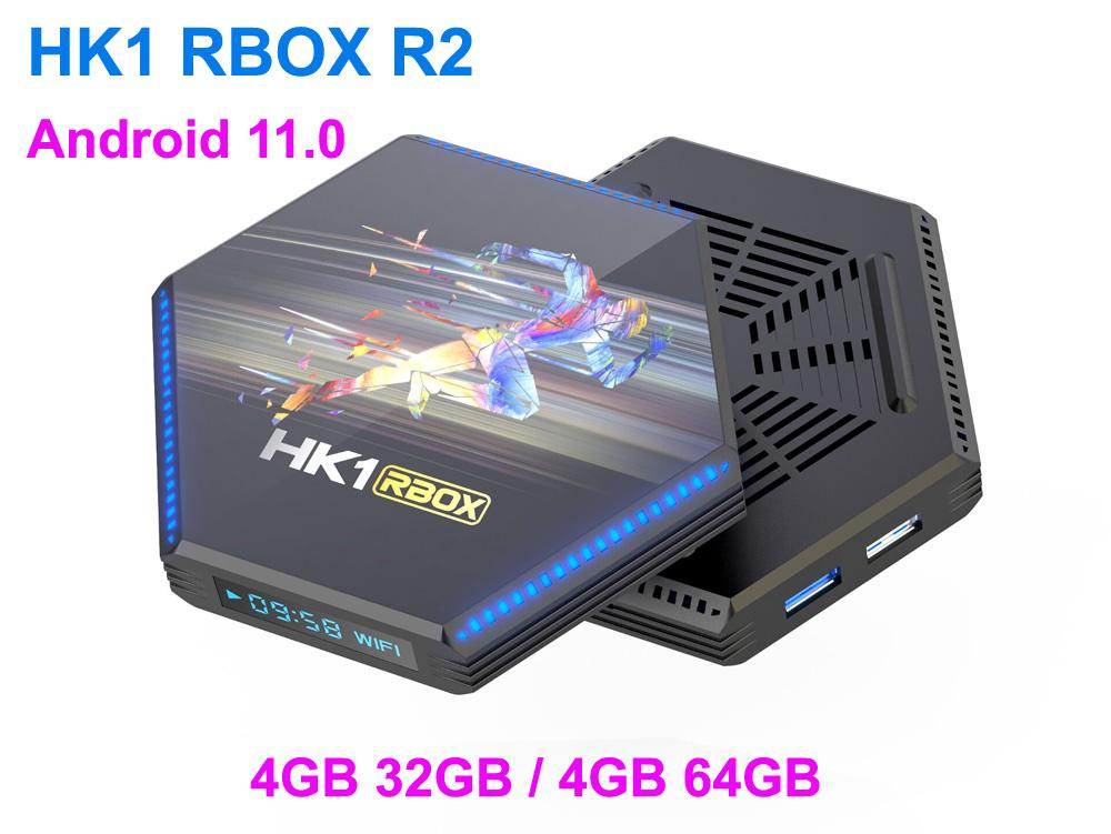 SMART SET TOP TV Box Android 11.0 RK3566 رباعية النواة 2.4 جرام 5G WIFI HK1 RBBOS R2 4GB 32GB 64GB 8K 4K Media Player Google