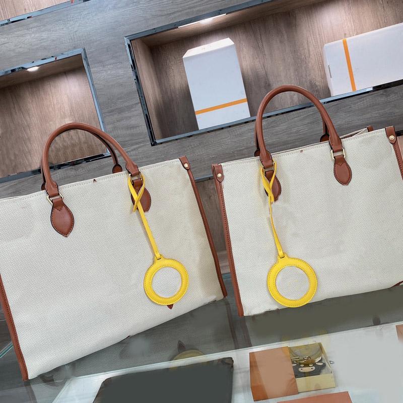Canevas shopping sac paille sac femmes sacs à main grande capacité lettres brodées cuir poignée duplex imprimé imprimé mode mode nature blanche