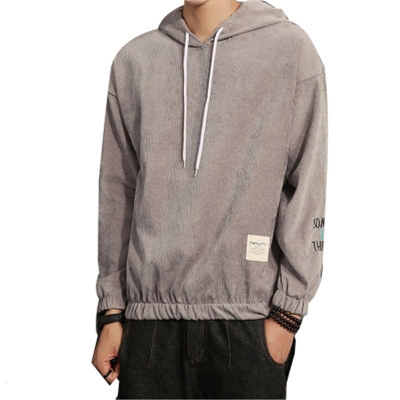 Erkek Moda Katı Kadife Kış Artı Boyutu Kazak Uzun Kollu Hip Hop Hoodies Streetwear Erkek Rahat Giysileri