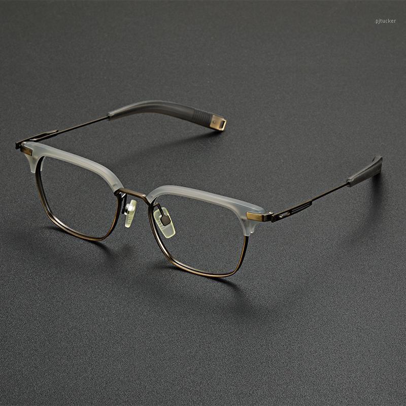 Gläser Rahmen Männer Frau Quadrat Titan Top Qualität Optische Brillen Myopie Lesen Verebeschreibung Eyewear Mode Sonnenbrille Frames1