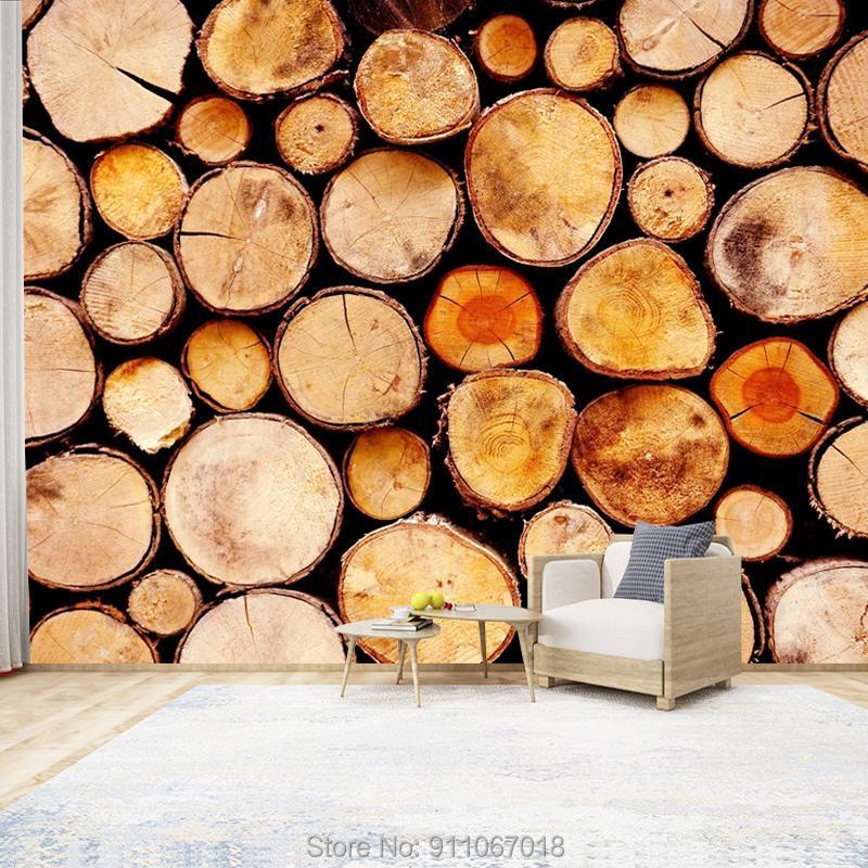 Özel dokunmamış 3d çıkartmalar vintage ahşap duvar kağıdı duvarlar için rulo ev dekor çocuk oturma odası yatak odası el dekorasyon duvar kağıtları