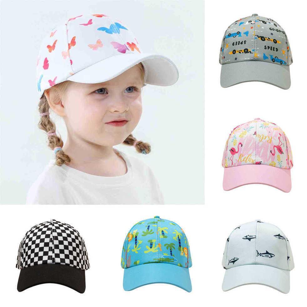 children baseball cap baby summer hat cartoon adjustable sun winter hats beanies boys caps for kids girls accessories beanie 6 color G69K0HH
