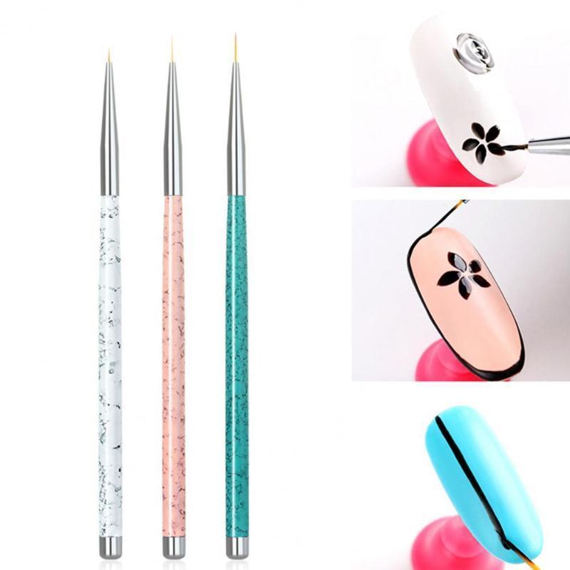 3 ADET Tırnak Kalemler Boyama Çizim Süslemeleri Jel Lehçe Kalem Çok Fonksiyonlu Kullanımı Kolay Kullanımı Kolay Salon Fırçalar Için Plastik Sanat Gömlekleri