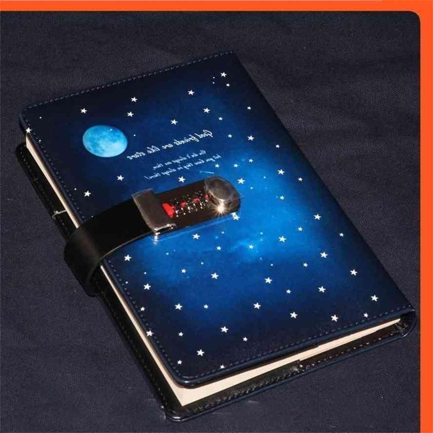 2021 New Password Lock Creative Notebook 130 260 Pages Students Secretly Keep Diary Hand Ledger