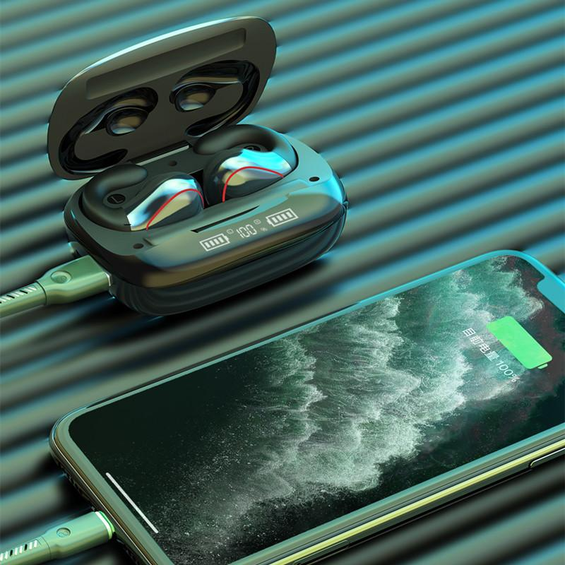 T20 سماعات بلوتوث الهاتف الخليوي بالجملة tws الرياضة اللاسلكية سماعة ليس في الأذن 5.0 3 ألوان