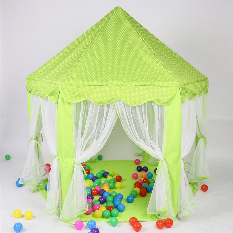 سرير المعاوضة طوي المحمولة للأطفال لعبة خيمة الأميرة فتاة قلعة للطي خيام اللعب منزل لعبة الطفل صغير قماش طفل شاطئ
