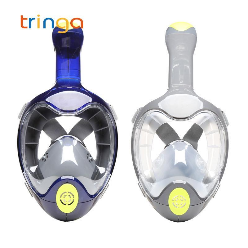 Natação máscara subaquática anti nevoeiro mergulho panorâmico snorkeling face completa snorkel mulheres homens crianças scuba óculos máscaras