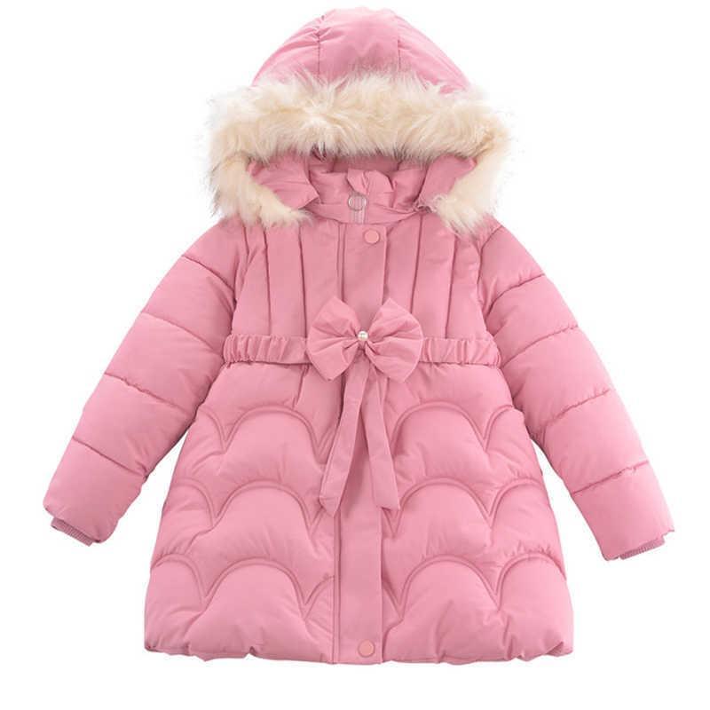 십대 소녀 재킷 2021 소녀를위한 가을 겨울 자켓 아이들 따뜻한 겉옷 코트 어린이 의류 파카 3 5 6 8 10 년 Q0827