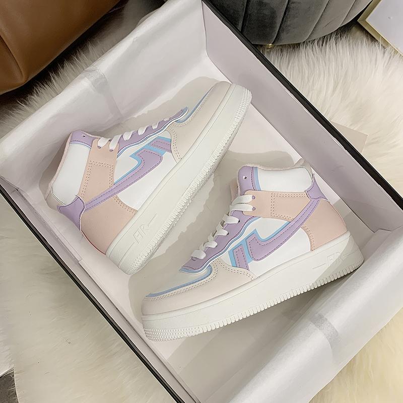 2021 Kış Kadın Sneakers Beyaz Tenis Kadın Ayakkabı Tuval Üzerinde Kayma Kadın Satır Ayakkabı Platformu Flats Rahat Bayanlar Vulkanize Ayakkabı