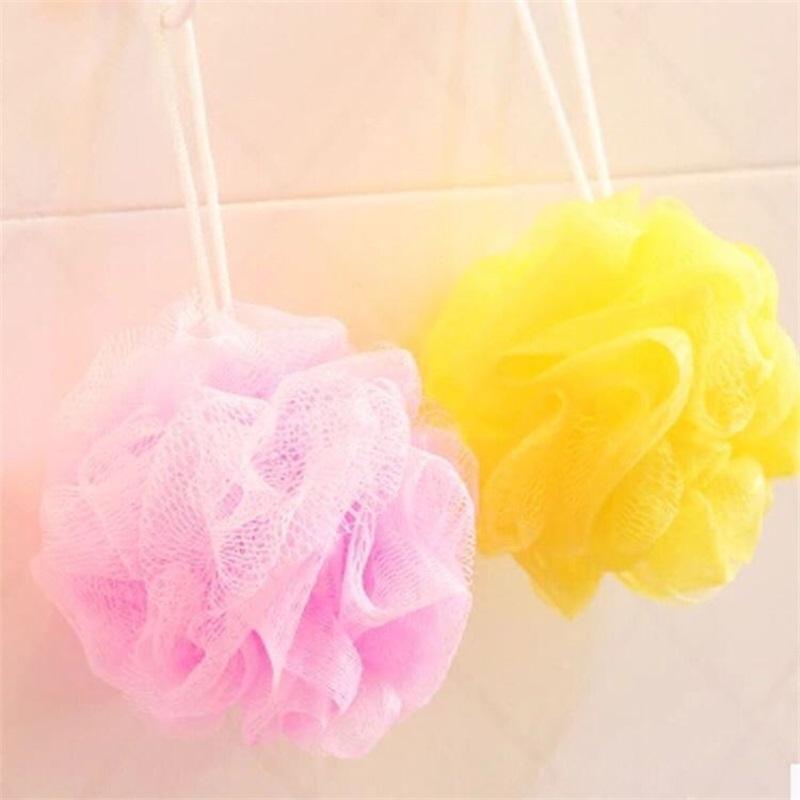 Pennelli Spugnes Scrubblers Loofah Bath Sponge Sponge Accessori per latte Nylon Shower Ball 10g Body Soft Body Brush Brush 21 R2