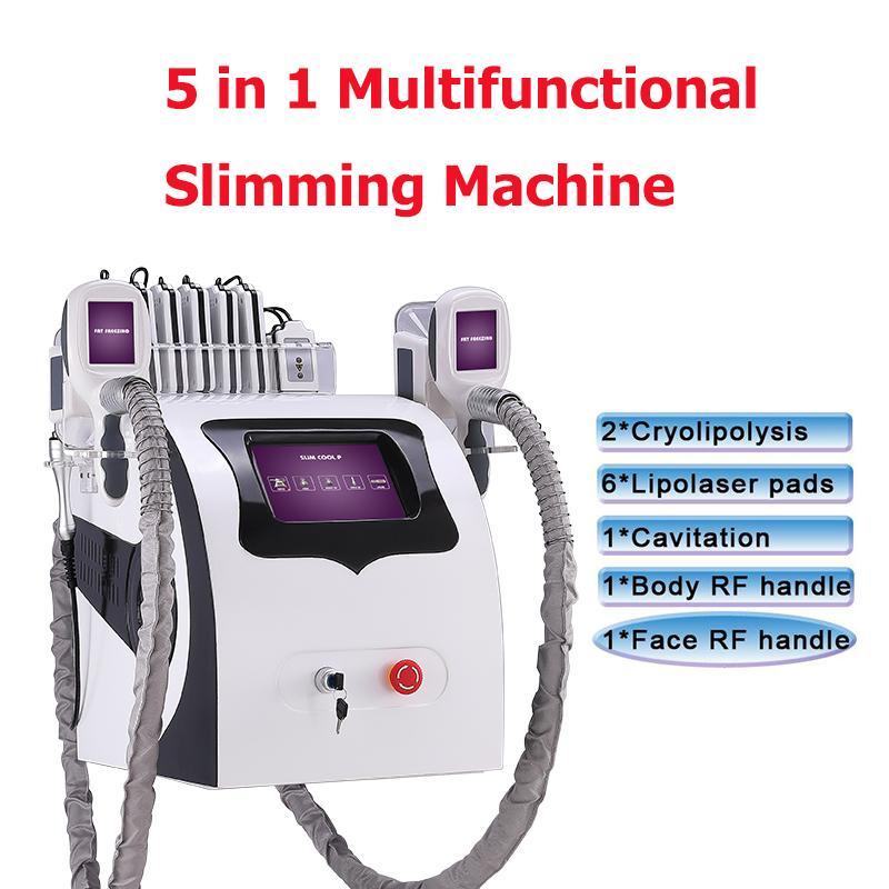 body slimming machine ultrasound cavitation for beauty center 2 handles Cryo &Cavitation fat freezing reduction