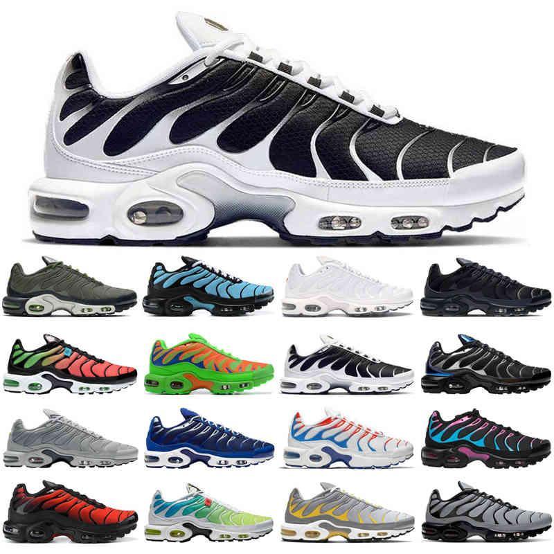 Venta al por mayor TN Plus SE Hombres Running Zapatos Triple Negro Blanco Cráter Psychic Blue Tiffany Gris Mens Entrenadores Deportes Zapatillas deportivas Tamaño 40-46