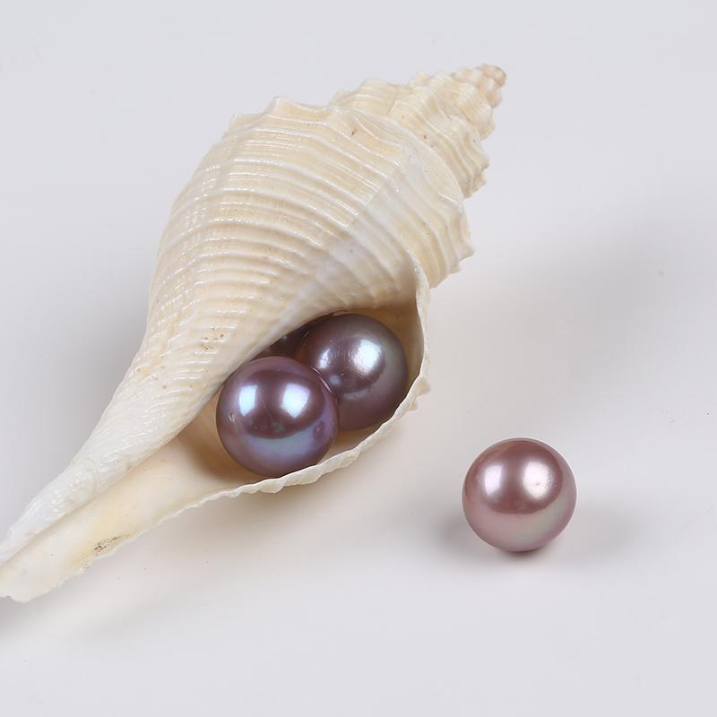 Real Natural Cultured Loose Fresh Water Pearl Purple Edison Beads Gift Jewelry Earrings Pendant Rings DIY Making
