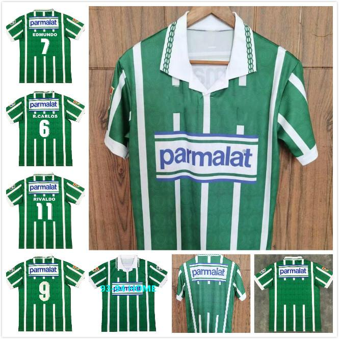Top 1993 1994 Palmairas Retro Dudu G Jesús Fútbol Jersey Home Alecsandro Allione Cleiton 93 94 Vintage Classic Classic Football Camisa
