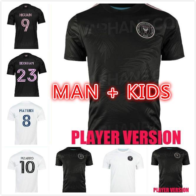 2021 2022 Inter Miami Soccer Jersey Beckham Matuidi Higuain Camisa de Fútbol Trapp Pellegrini Pizarro CF Hombres Niños