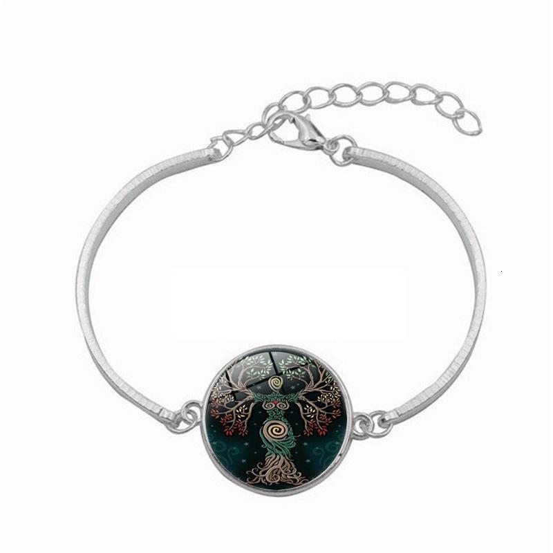 Árvore de vida deusa tempo senhora amantes pulseira jóias braceletln0a